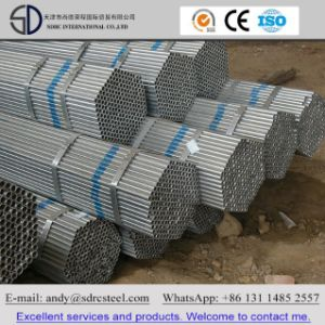 7.2m Hot DIP Galvanized Round Steel Pipe (Tube) pictures & photos