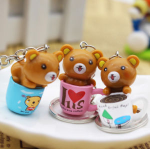 Promotional Gift Cartoon Resin Key Ring Key Chain pictures & photos