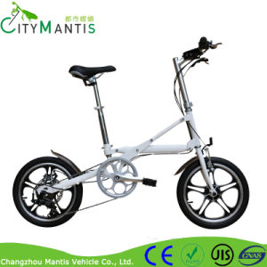 Fashion Style Electric Folding Bike with 7-Speed Derailleur pictures & photos