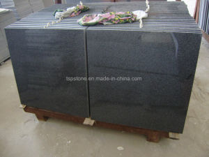 Natural Polished Dark Grey Granite Tile pictures & photos