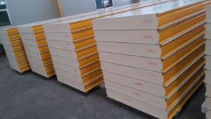 100mm Thickness PU Sandwich Panels for Prefab House/Building Material pictures & photos