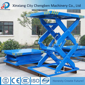 Portable DC Motor 24 V Scissor Lift with Electric Working pictures & photos