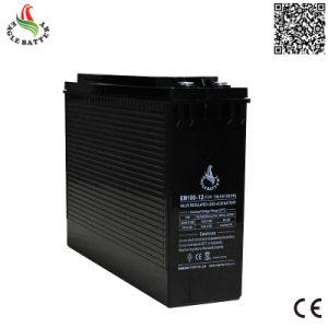 Front Terminal 12V 100ah Mf Rechargeable Battery for UPS pictures & photos