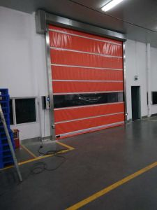Food Grade Automatic Plastic Industrial Rapid Roller Door with Automatic Sensor pictures & photos