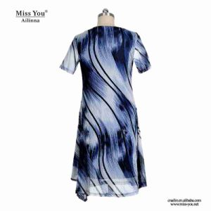 Miss You Ailinna 305543 Women Printed Wave A-Line Dress Distributor pictures & photos