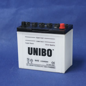 High Quality High Performance JIS Standard Dry Charged N4512V45ah Car Battery pictures & photos