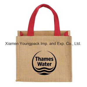 Wholesale Bulk Custom Printed Eco Friendly Reusable Jute Flat Tote Bags pictures & photos