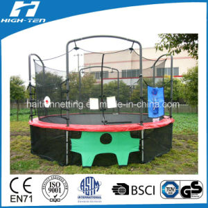 Soccer Goal Game with Target Below Trampoline pictures & photos