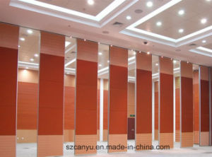 Commercial Position Conferernce Hall Sliding Doors Wood Movable Partition Walls pictures & photos