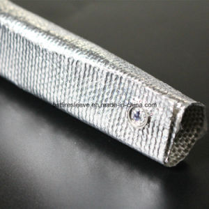 Reflective Thermal Aluminized Glass Fiber Sleeve with Snap pictures & photos
