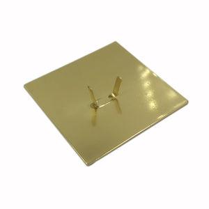 Garment Accessories Gold Custom Metal Logo Label pictures & photos