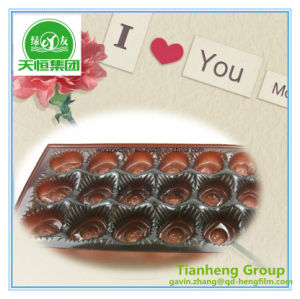 Thermoforming Chocolate Packing PVC Rigid Gold Silver Film pictures & photos
