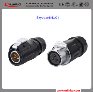 Waterproof 3pin Electrical Connector Power Application Female and Male Connector for LED Outdoor Light Wit IP67 Certification pictures & photos