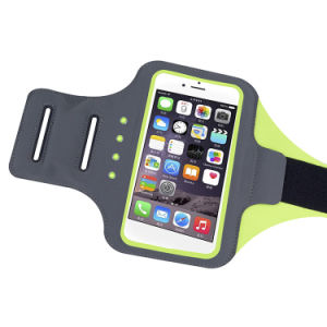 New Kinetic Energy Battery Free Reflective LED Phone Armband with Fingerprint Scan pictures & photos