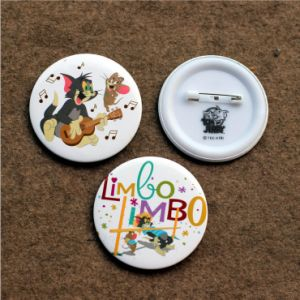 Promotion Gift Button Badge with Full Color Printed Logo pictures & photos