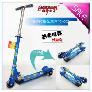 Aluminum Laser Big Wheel Kick Scooter for Children