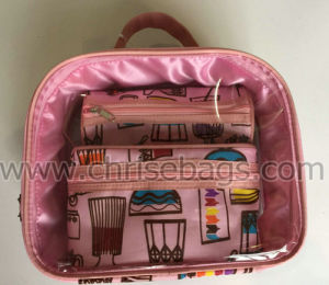 PVC & Polyester Sets Promotion Cosmetic Handbag pictures & photos