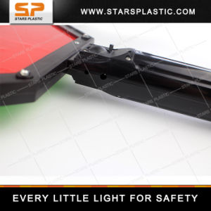 Rechargeable LED Siga Flash Paddle Warning Sign with 3m Reflector pictures & photos