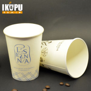 Custom Made Printed Disposable Sinale Wall Hot Paper Cup pictures & photos
