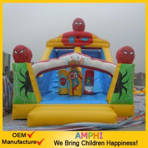 Giant Inflatable Spoderman Slide for Sale