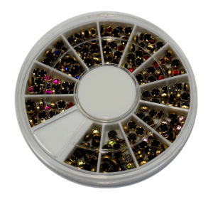 Nail Art, Nail Beaty, Nail Accesorries, Nail Rhinestone, Gold-Lined Round Rhinestones pictures & photos