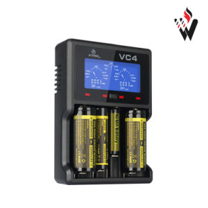 in Stock High Quality Xtar Vc4 for 18650 Battery External Battery Charger