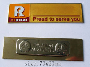 Metal Name Plates with Magnet (ASNY-JL-NB-090502) pictures & photos