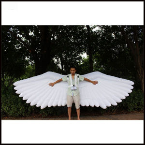 Length 4m New Product Inflatable Model Oxford Cloth White Large Angel Wing Inflatable Wing/Inflatable Model