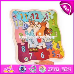 New Design Children Early Teaching Wooden Clock Puzzle W14k016 pictures & photos