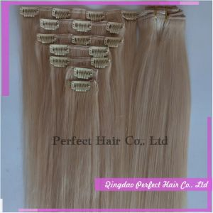 Virgin Remy Straight Human Hair Clip in Hair Extensions pictures & photos