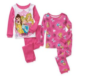 Baby Toddler Girl Character Cotton 2sets for 1 Pajamas