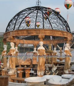 Outdoor Garden Gazebo with Stone Marble Granite Sandstone Limestone (GR050) pictures & photos