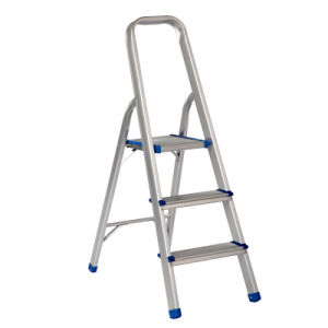 En131 Approved 3 Steps Aluminum Double Household Ladder pictures & photos