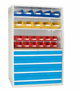 Storage Cabinet With Spare Parts Boxes (Opened)