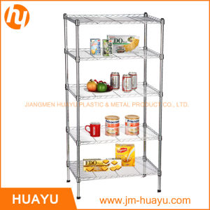 5 Tiers Commercial Chrome Metal Shelf Wire Shelving Rack Wire Stand (800lbs heavy duty) pictures & photos