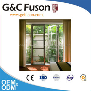 Durable Champagne Color Aluminium Casement French Door for Balcony pictures & photos
