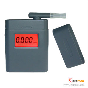 3-Digit LCD Alcohol Tester Breathalyzer With Clock and & 5 Mouthpieces (I-ALT-17S) pictures & photos