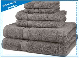 100% Premium Cotton 6PCS Towel Set pictures & photos