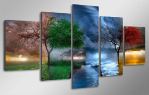 HD Printed Fantasy Nature Painting Canvas Print Room Decor Print Poster Picture Canvas Mc-062 pictures & photos