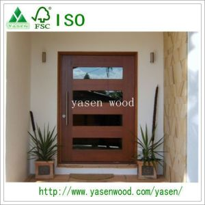 Popular Design Solid Wood Pivot Door