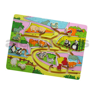 Wooden Tracing Puzzle Zoo Animals (80132) pictures & photos