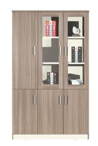 Fashion Design Wood and Glass Window Document Cabinet pictures & photos