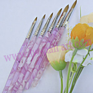 Acrylic Nail Art Carving Pen Brush for Liquid Powder DIY Tool Nylon & Kolinsky Professional pictures & photos