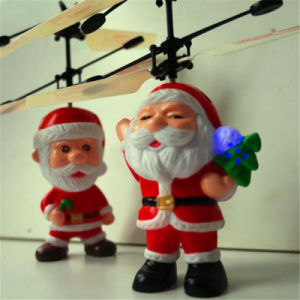 Infrared Hand Induction Father Christmas Helicopter Toy pictures & photos