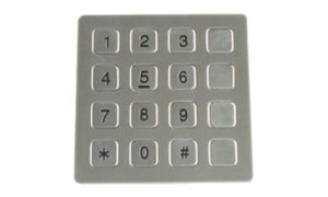 16-Keys Stainless Steel Keypad, Durable Numeric, Sensitive Reaction Keypad pictures & photos