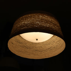 Chinese Style Opal White Rattan Round Pendant Lamp for Hotel pictures & photos