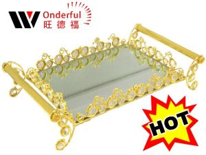 2014 Decorative Metal Storage Tray (T030-G)