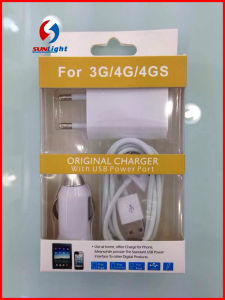 3in1 Mobile Charge for iPhone4 USB Charge with Cable Car Charge pictures & photos