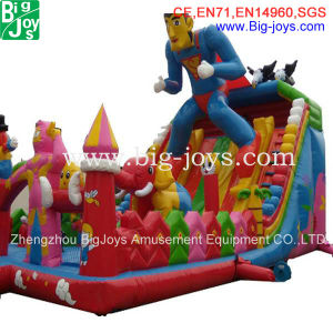 Large Inflatable Bouncer, Amusement Superman Fun City (BJ-AT77) pictures & photos