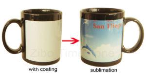 Black Ceramic Stoneware Color Changing Mug (003) pictures & photos